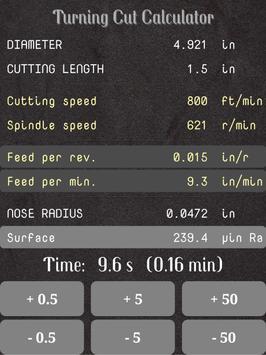Turning Cut Calculator screenshot 15
