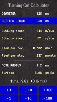 Turning Cut Calculator screenshot 1
