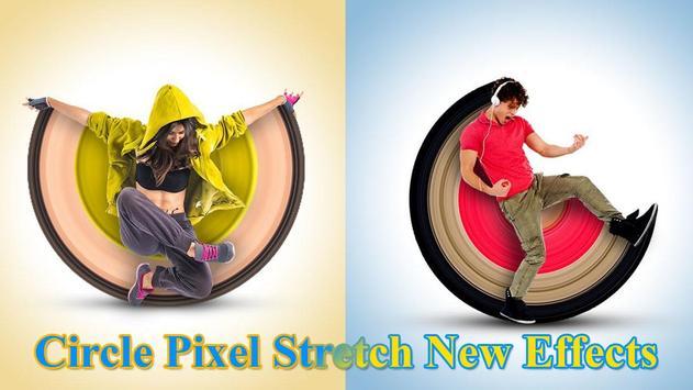 Circle Pixel Stretch Effects - Pics Editor screenshot 4