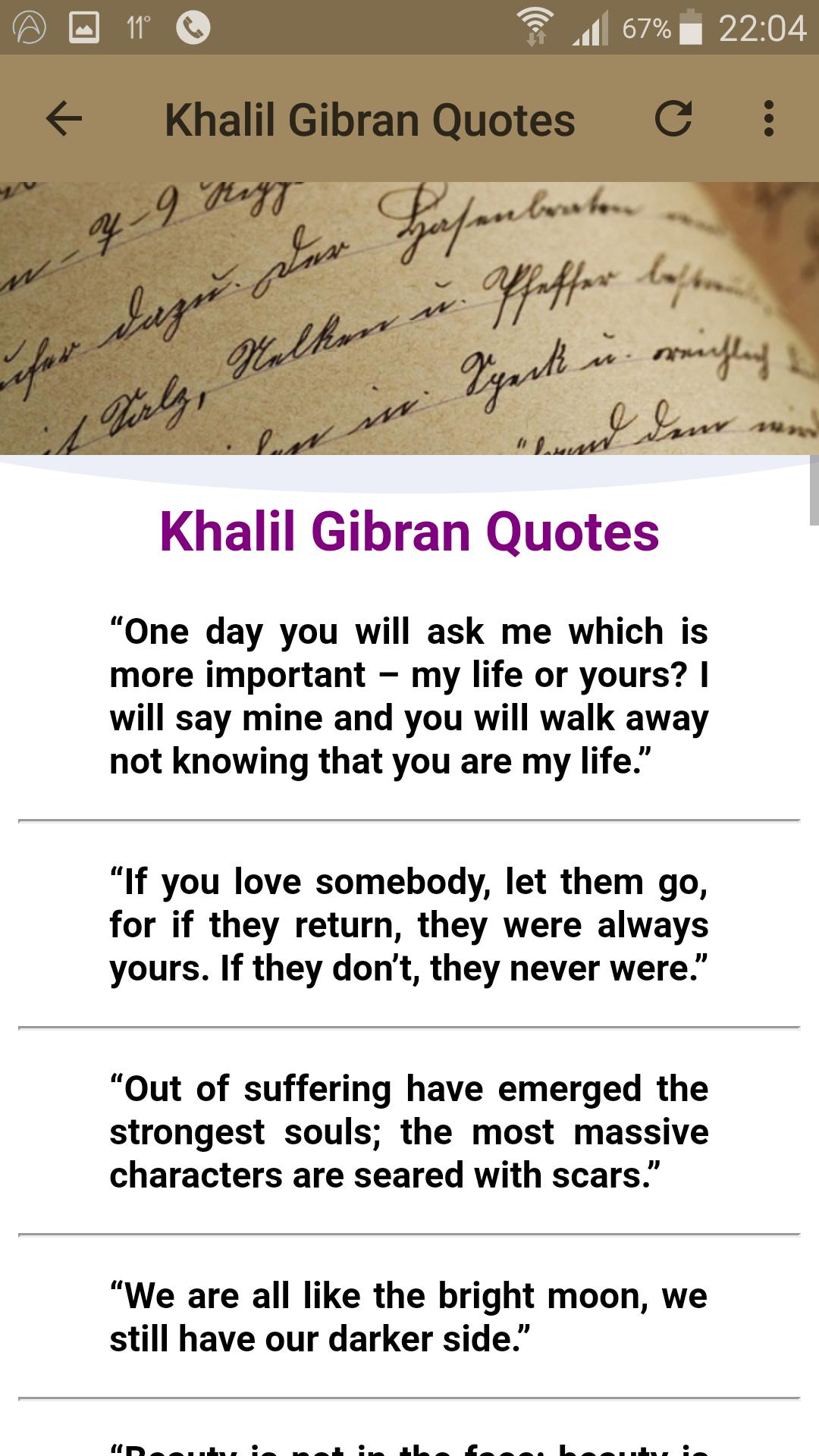Khalil Gibran Quotes for Android - APK Download