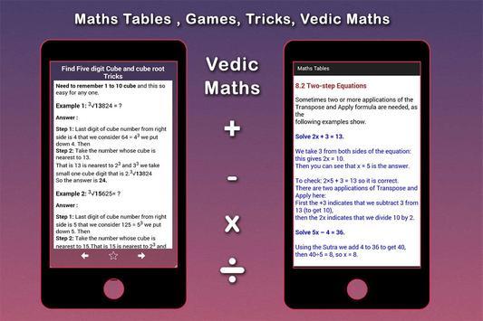 Maths Tables, Games, Maths Tricks, Vedic Maths screenshot 5