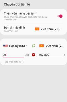 Money Exchange (use everywhere on your phone) screenshot 1
