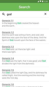 King James Bible capture d'écran 1