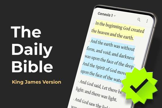 King James Bible (KJV) Free Daily Verse Study App poster