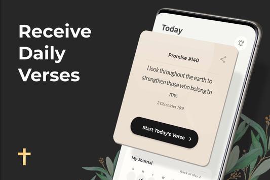King James Bible (KJV) Free Daily Verse Study App screenshot 1