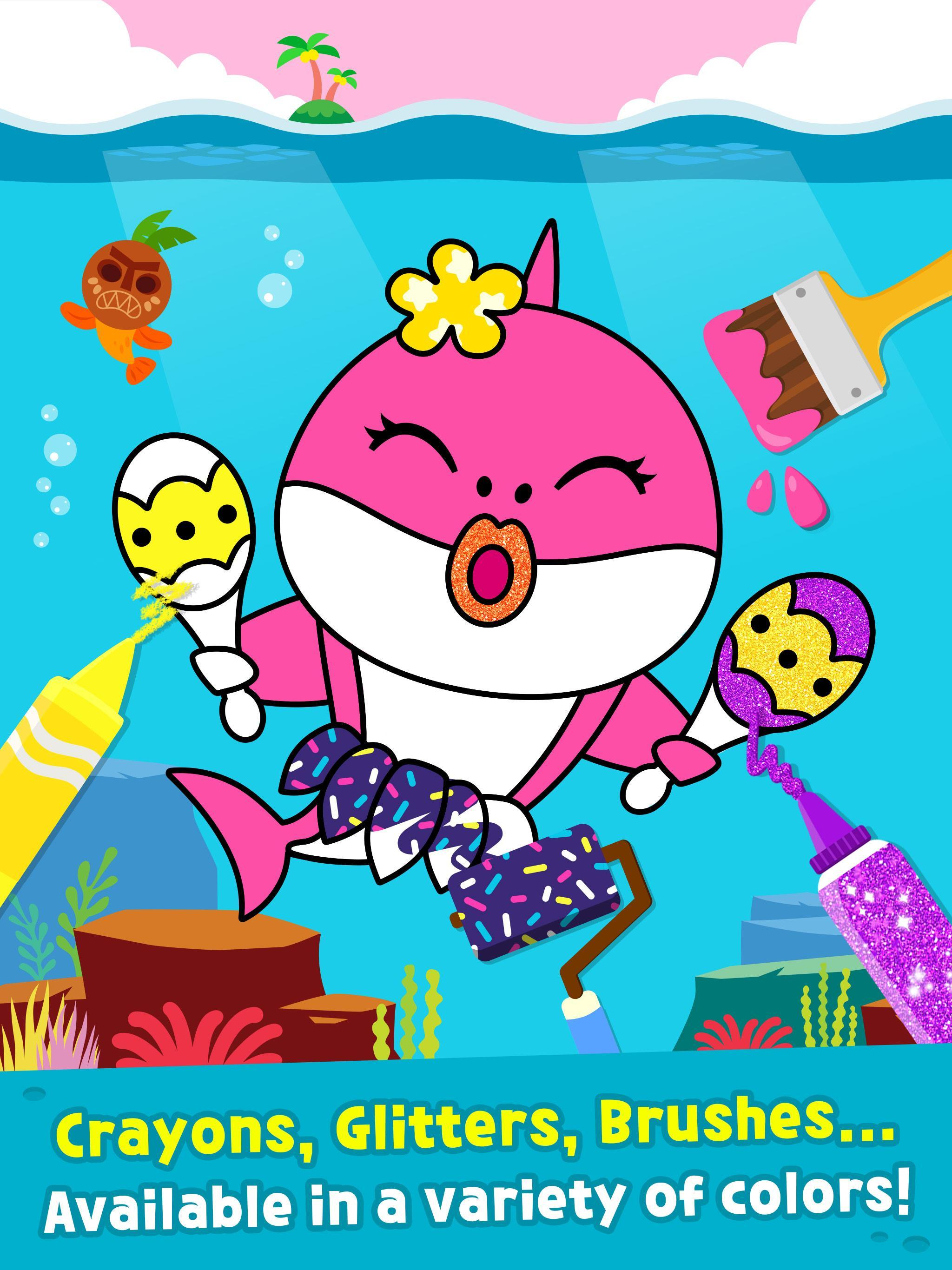 Pinkfong Baby Shark Coloring Book For Android Apk Download