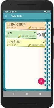 할일 목록,투두 리스트,Friendly Todo List, 할일 메모,달력,달력 메모 capture d'écran 2