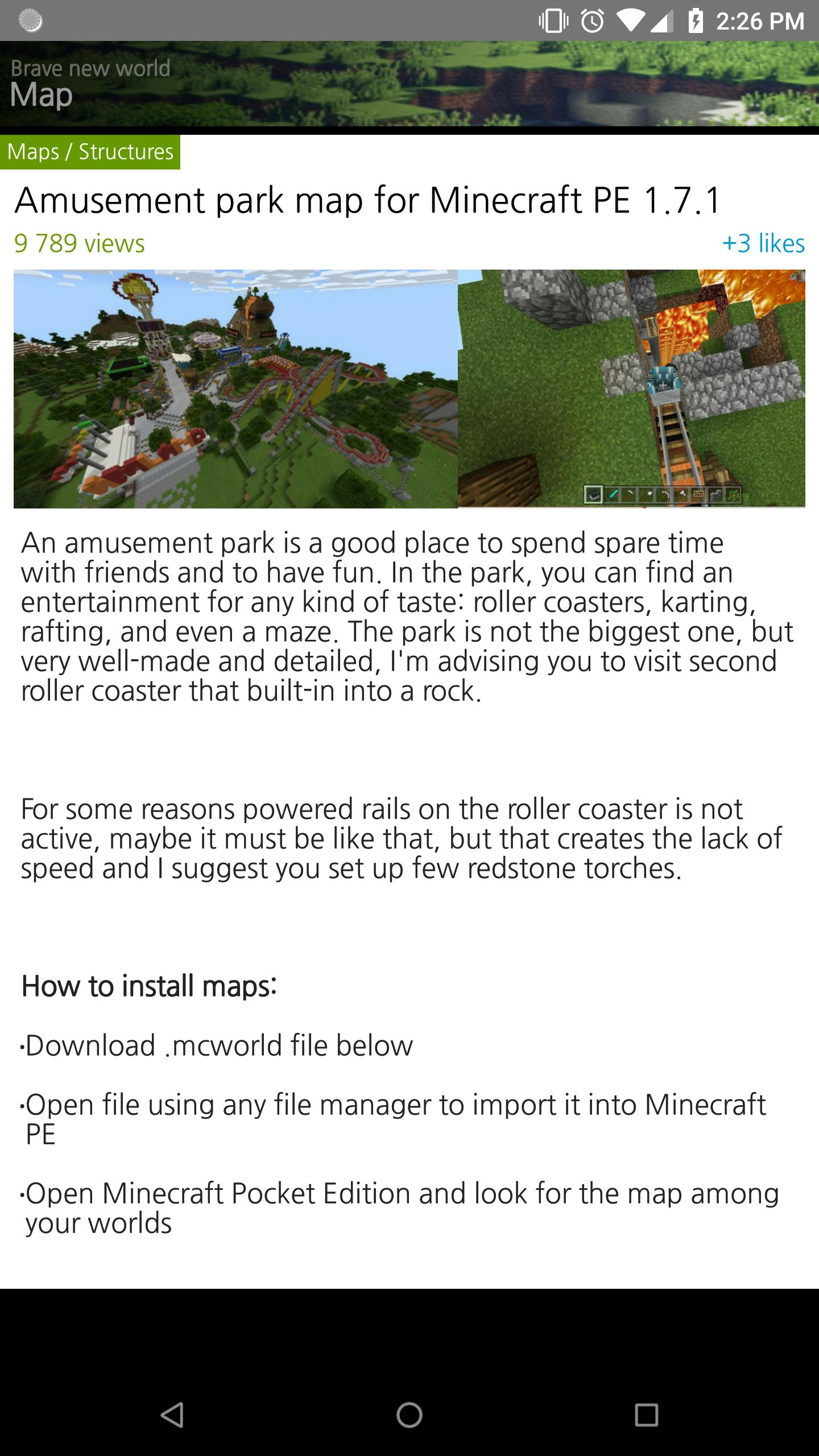 MAP downloader for Minecraft PE for Android - APK Download