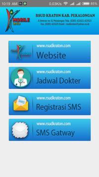 RSUD Kraton Registrasi SMS Rawat Jalan poster