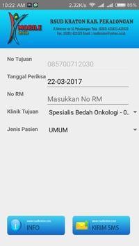 RSUD Kraton Registrasi SMS Rawat Jalan screenshot 2