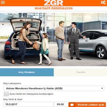 ZGR Rent a Car Mobil Uygulaması screenshot 1