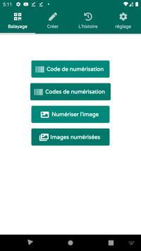 Scanner de codes QR & de codes-barres (français) Affiche