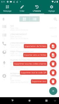 Scanner de codes QR & de codes-barres (français) capture d'écran 6