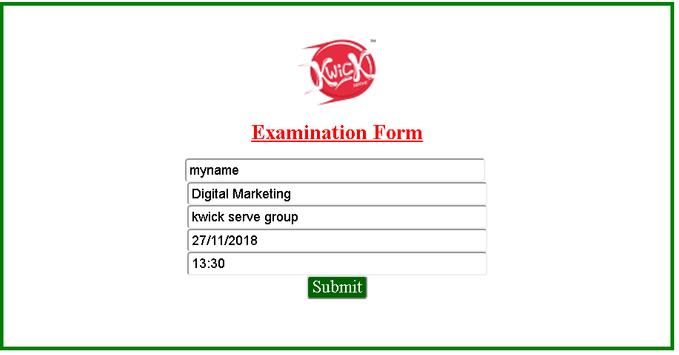 Kwick Serve Educational Institution - Exam APP screenshot 1