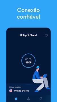 Hotspot Shield Grátis VPN Proxy & Segurança WiFi imagem de tela 3