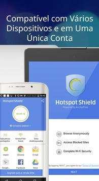 Hotspot Shield Grátis VPN Proxy & Segurança WiFi imagem de tela 14