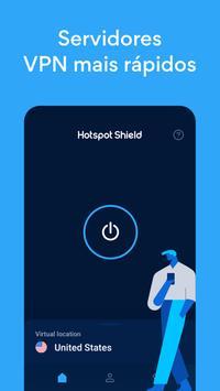 Hotspot Shield Grátis VPN Proxy & Segurança WiFi imagem de tela 1