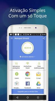 Hotspot Shield Grátis VPN Proxy & Segurança WiFi imagem de tela 8