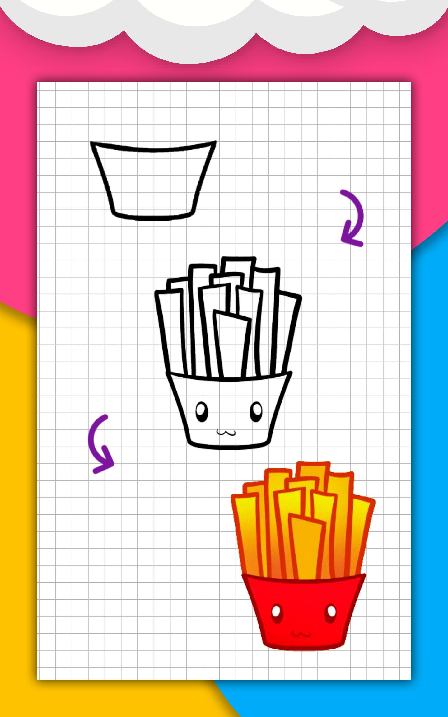 How to draw cute food, drinks step by step for Android ...