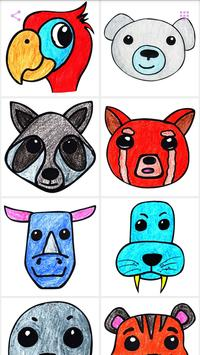 How to draw animal faces for kids poster