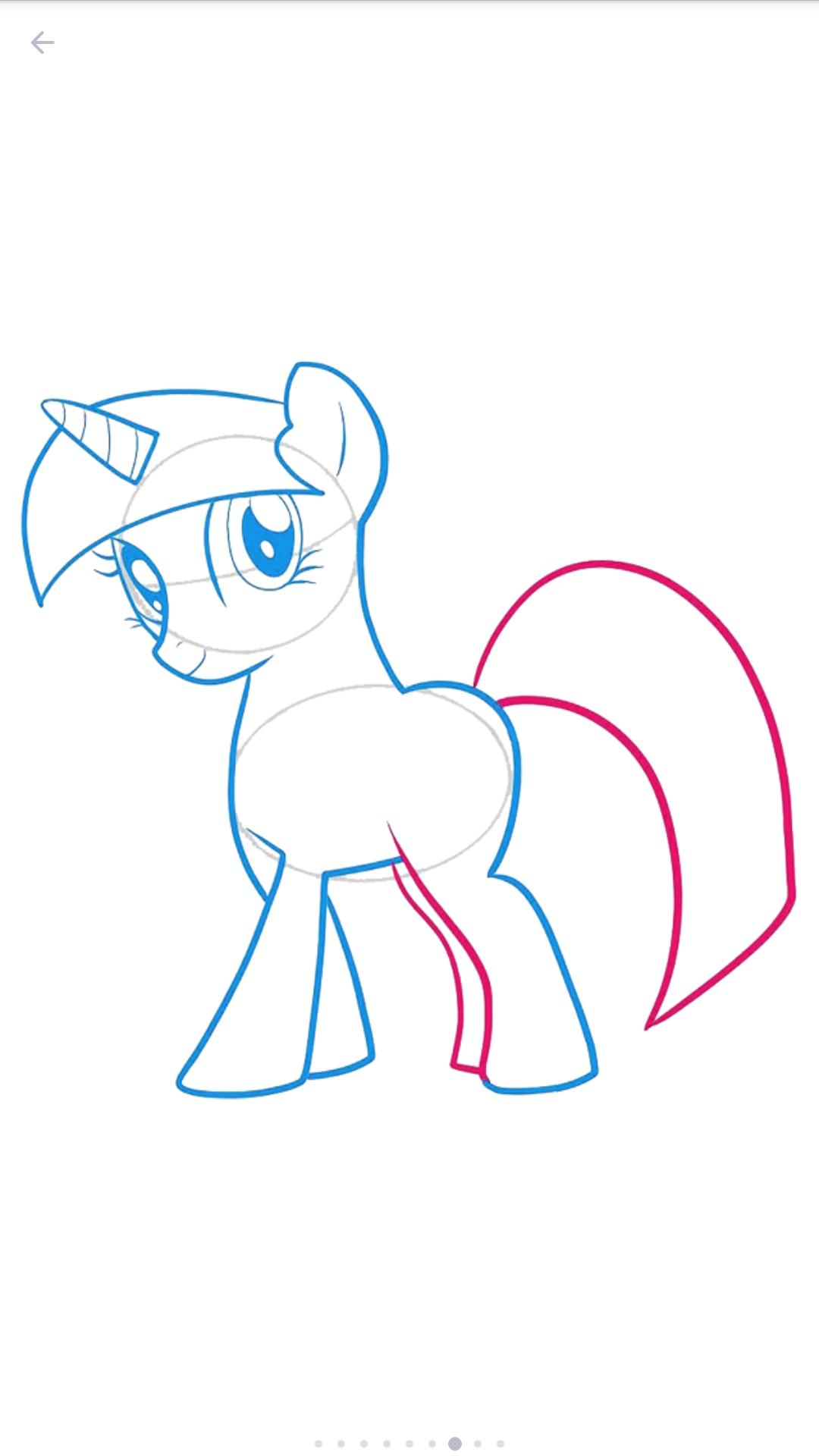 How To Draw Pony Alicorn Unicorn Pegasus For Android Apk Download