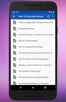 How To Calculate Percentages screenshot 1