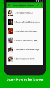 How to Become a Lawyer poster