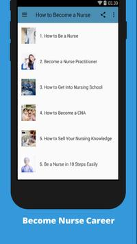 How to Become a Nurse poster