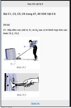 Học tốt Vật lý lớp 6 screenshot 1