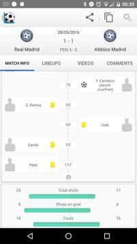 1 Schermata Calcio Risultati in Diretta