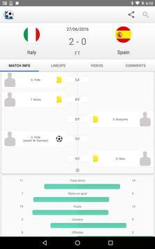 10 Schermata Calcio Risultati in Diretta