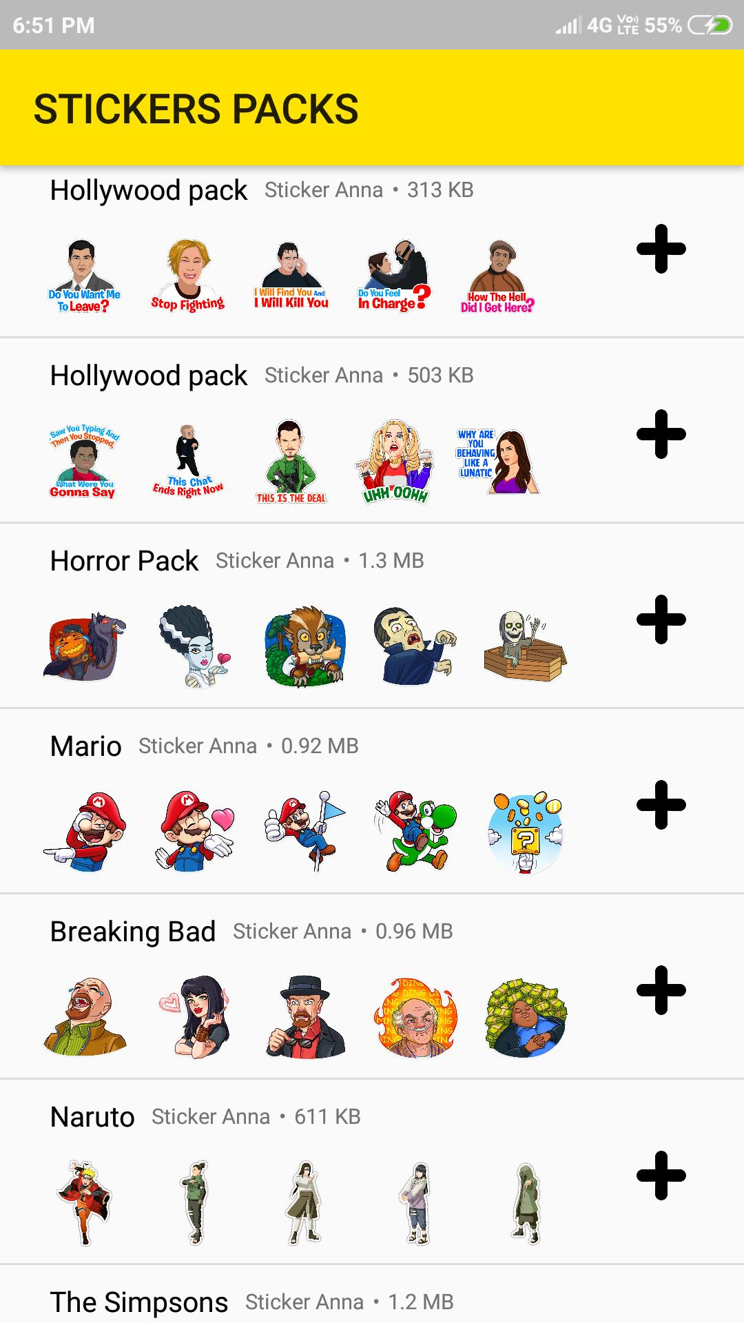 Hollywood stickers WAStickers   WAStickerapps for Android   APK ...