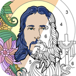 Bible Coloring - Color By Number, Free Bible Game APK