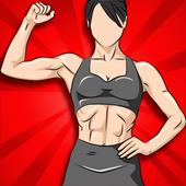 Fitness Frauen - Frauen Fitnessübungen für Zuhause Zeichen
