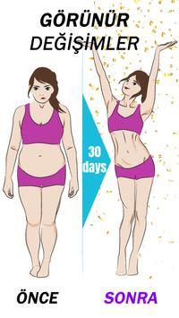 Kadın Fitness - Evde Kilo Verme Egzersizleri Ekran Görüntüsü 7