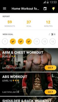 Home Workout for Men poster