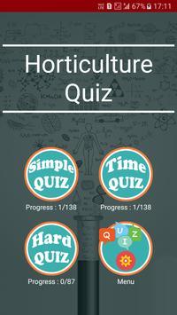 Horticulture Quiz poster