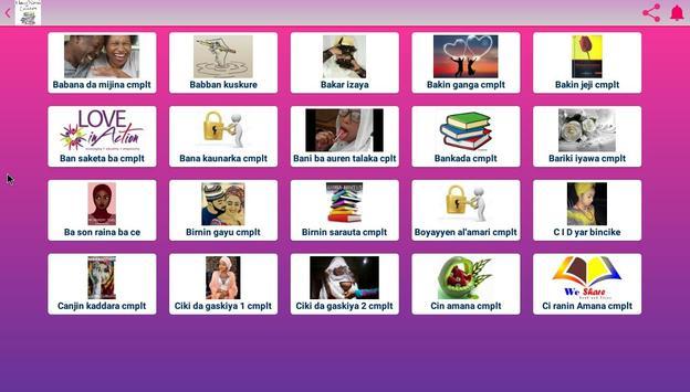 Hausa novels books screenshot 3