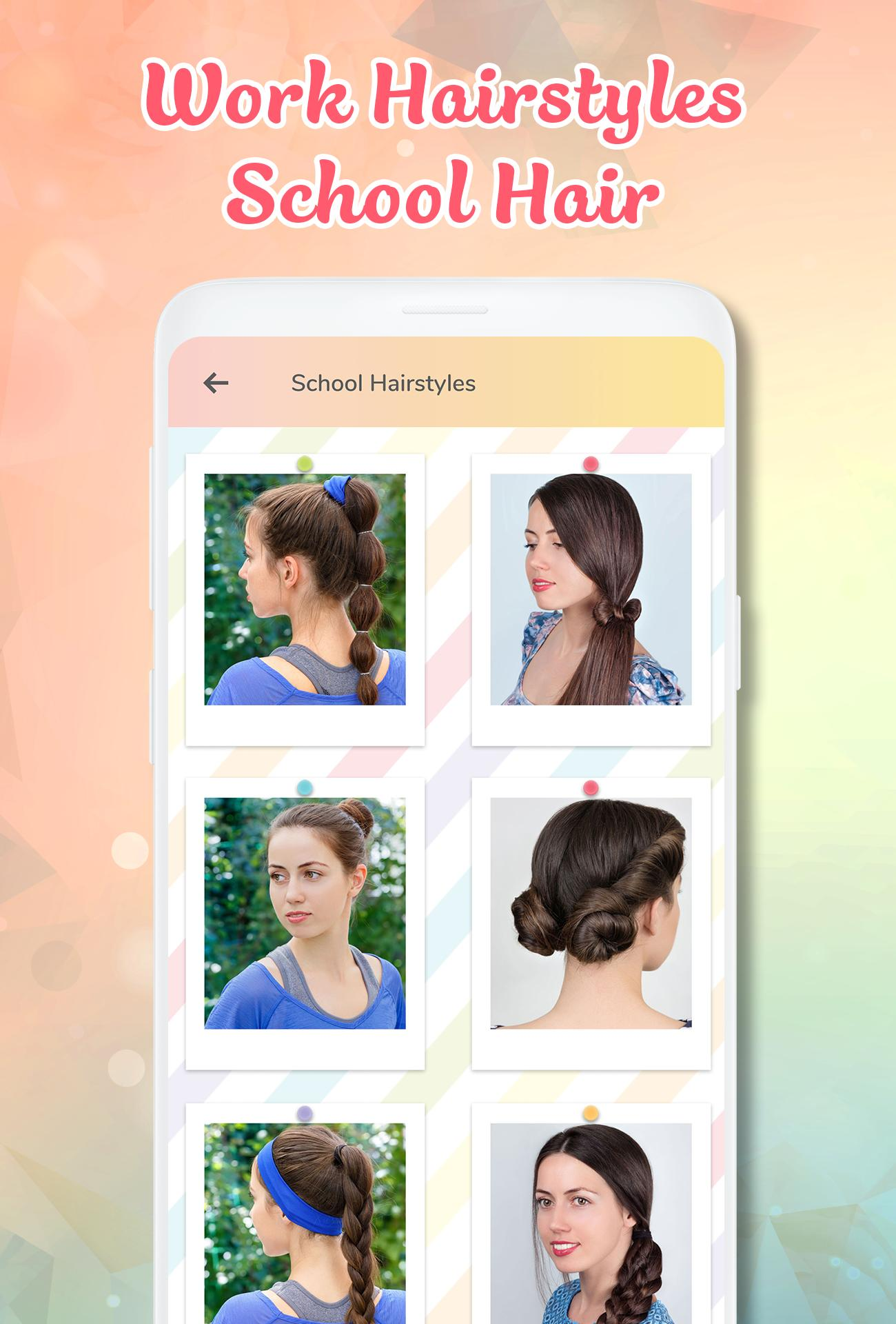 Hairstyle app: Hairstyles step by step for girls für Android - APK