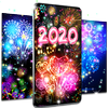 Happy new year 2020 live wallpaper-icoon