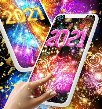 Happy new year 2021 live wallpaper poster