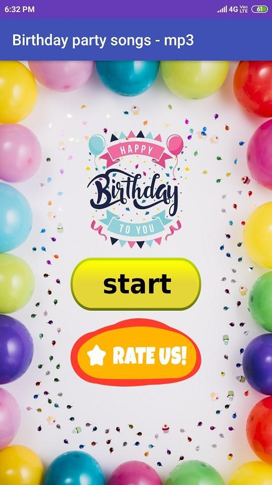 Happy Birthday Songs Hindi For Android Apk Download A happy birthday song app for all hindi people to wish happy birthday song in hindi happy birthday songs, with 10+ hindi bithday songs in mp3 ,with option of download ,save ,share and play. happy birthday songs hindi for