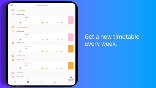 Planner Timetable with alarm for study - Damda スクリーンショット 9