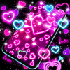 Neon hearts live wallpaper ikona