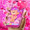Teddy bear love hearts live wallpaper biểu tượng