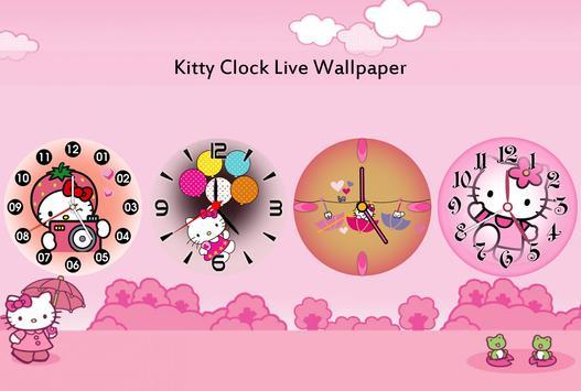 Kitty Clock Live Wallpaper poster