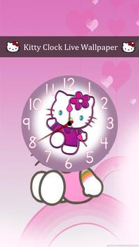 Kitty Clock Live Wallpaper screenshot 3