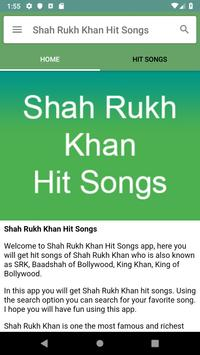 Shah Rukh Khan Hit Songs screenshot 1