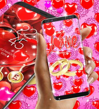 Romantic live wallpaper 스크린샷 4