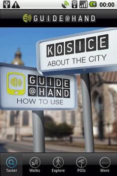 Kosice GUIDE@HAND poster